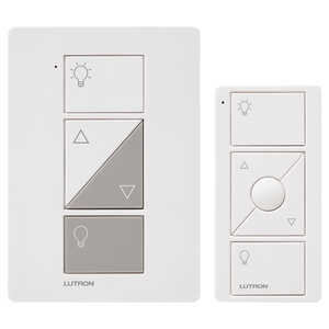 Lutron  Caseta  White  Plug-In  100 watts 1  Dimmer Switch w/Remote Control
