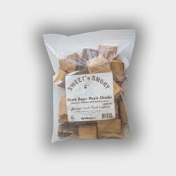 Chigger Creek  Sweet 'N Smoky  All Natural Ozark Sugar Maple  Wood Smoking Chunks  300 cu. in.