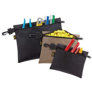 CLC Work Gear  1.5 in. W x 10.5 in. H Polyester  Tool Pouch Set  Black/Tan  1 pc.