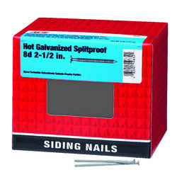 Ace  8D  2-1/2 in. Siding  Hot-Dipped Galvanized  Steel  Nail  Flat  5 lb.