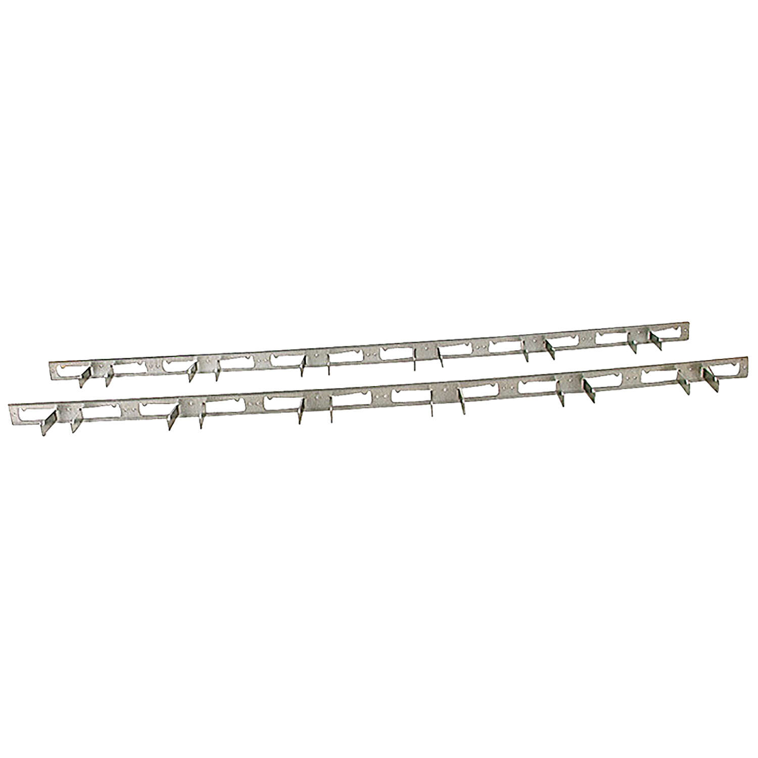 Crawford  Zinc-Plated  Silver  Steel  Hook Rack  1 pk