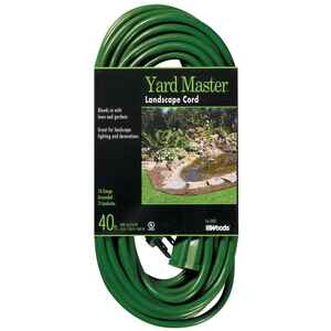 Woods  Yard Master  Outdoor  40 ft. L Green  Extension Cord  16/3