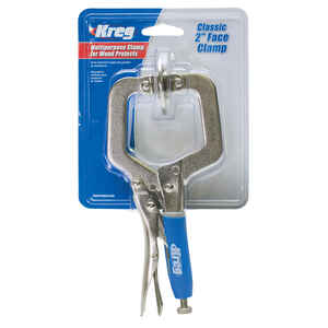 Kreg  2-1/4 in.  x 2 in. D Metal  Hold-Down  Classic Face Clamp  450 lb. capacity Silver  1 each