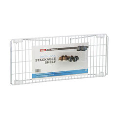 Grayline  Life Organized  7-1/2 in. H x 10 in. W x 22 in. L PE Coated  White  Stackable Shelf