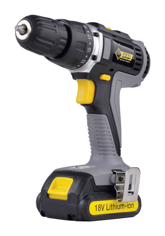 Steel Grip  18 volt 3/8 in. Cordless Drill/Driver  1400 rpm 2 speed