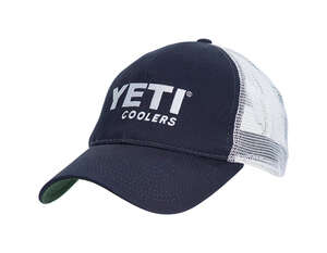 YETI  Blue/White  Trucker Hat  One Size Fits All  Cotton Twill