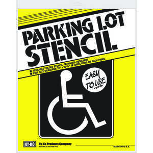 Hy-Ko  English  29-1/4 in. W x 37 in. H x 29.25 in. W Handicap Symbol  Parking Lot Stencil  Card Sto