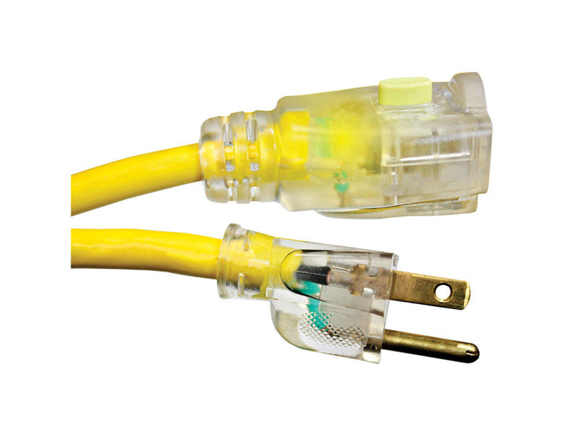Monster Cable Outdoor Yellow Extension Cord 14/3 SJTW 100 ft. L ...
