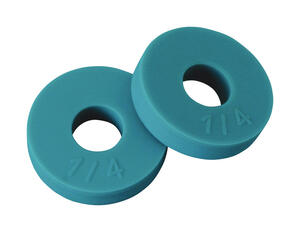 BrassCraft  1/2 in. Dia. Rubber  Flat Bibb Washer  2 pk
