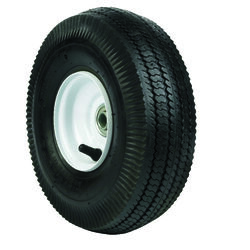 Arnold  4 in. Dia. x 10 in. Dia. 350 lb. capacity Offset  Hand Truck Tire  Rubber