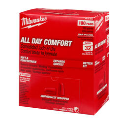 Milwaukee 32 dB Foam Ear Plugs Red 100 pair