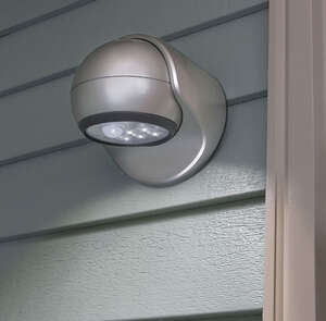 Fulcrum  Plastic  Battery Powered  Porch Light  Motion-Sensing  LIGHT IT  Silver