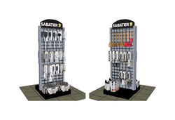 Sabatier  73 in. H x 33.1 in. W x 29 in. L Gray  2 Sided  Display Rack  Metal