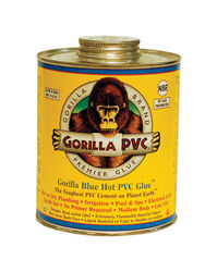 Gorilla PVC  Hot Glue / Blue Glue  Blue  Solvent Cement  For PVC 4 oz.