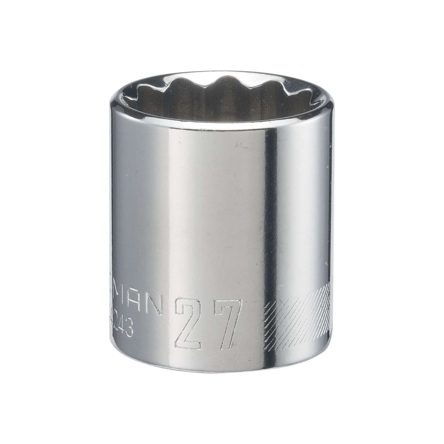 Craftsman 27 mm x 1/2 in. drive Metric 12 Point Standard Shallow Socket 1 pc.