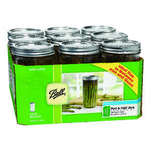 Ball  Wide Mouth  Canning Jar  24 oz. 9 pk