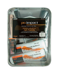 Linzer Pro Impact Metal 9 in. W x 9 in. L Paint Tray Set