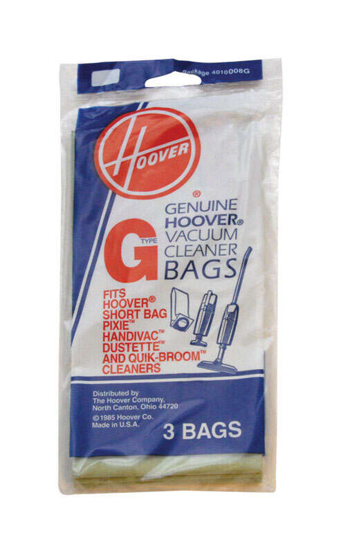 Hoover Dustette Vacuum Bag  Style G Fits all Hoover Celebrity Canister models Bagged 3 / Pack Hoover