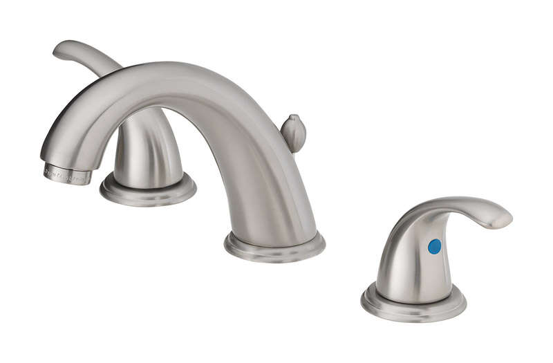 OakBrook Coastal Brushed Nickel Widespread Lavatory Pop-Up Faucet 6in. - 12 in.