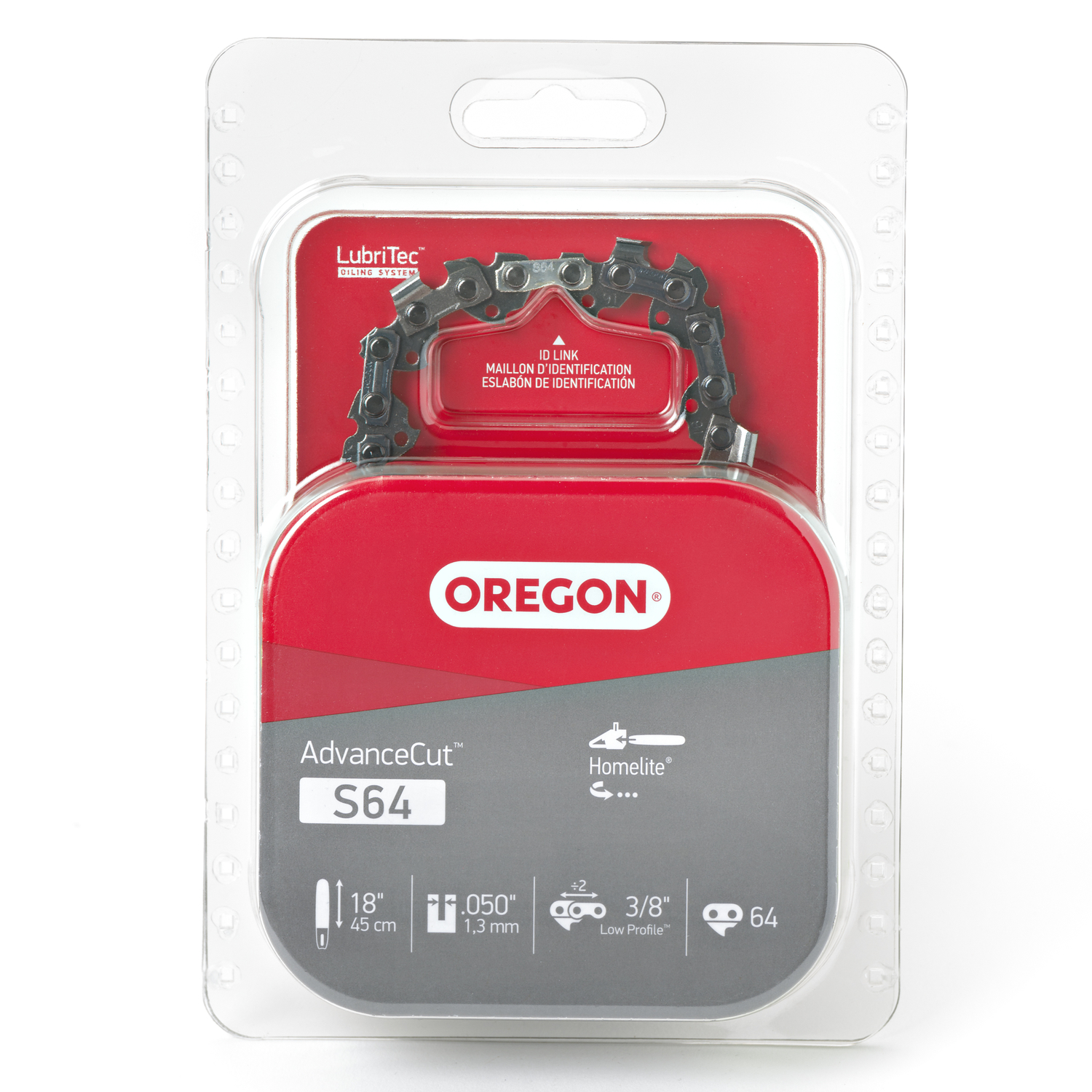 Oregon  18 in. L 64 links Chainsaw Chain