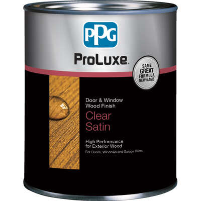 PPG  ProLuxe Cetol Door and Window  Transparent  Satin 003 Colorless  Solvent-Based  Wood Finish  1