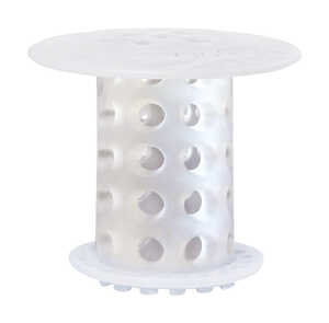 Tub Shroom  2 in. Clear  Silicone  Round  Drain Hair Catcher