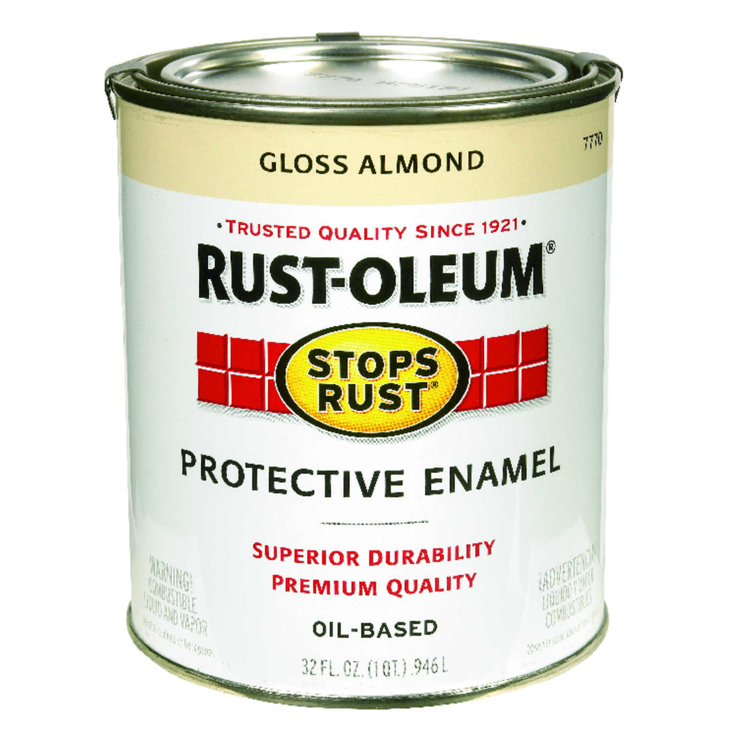 Rust-Oleum  Gloss  Almond  1 qt. Protective Enamel  Indoor and Outdoor
