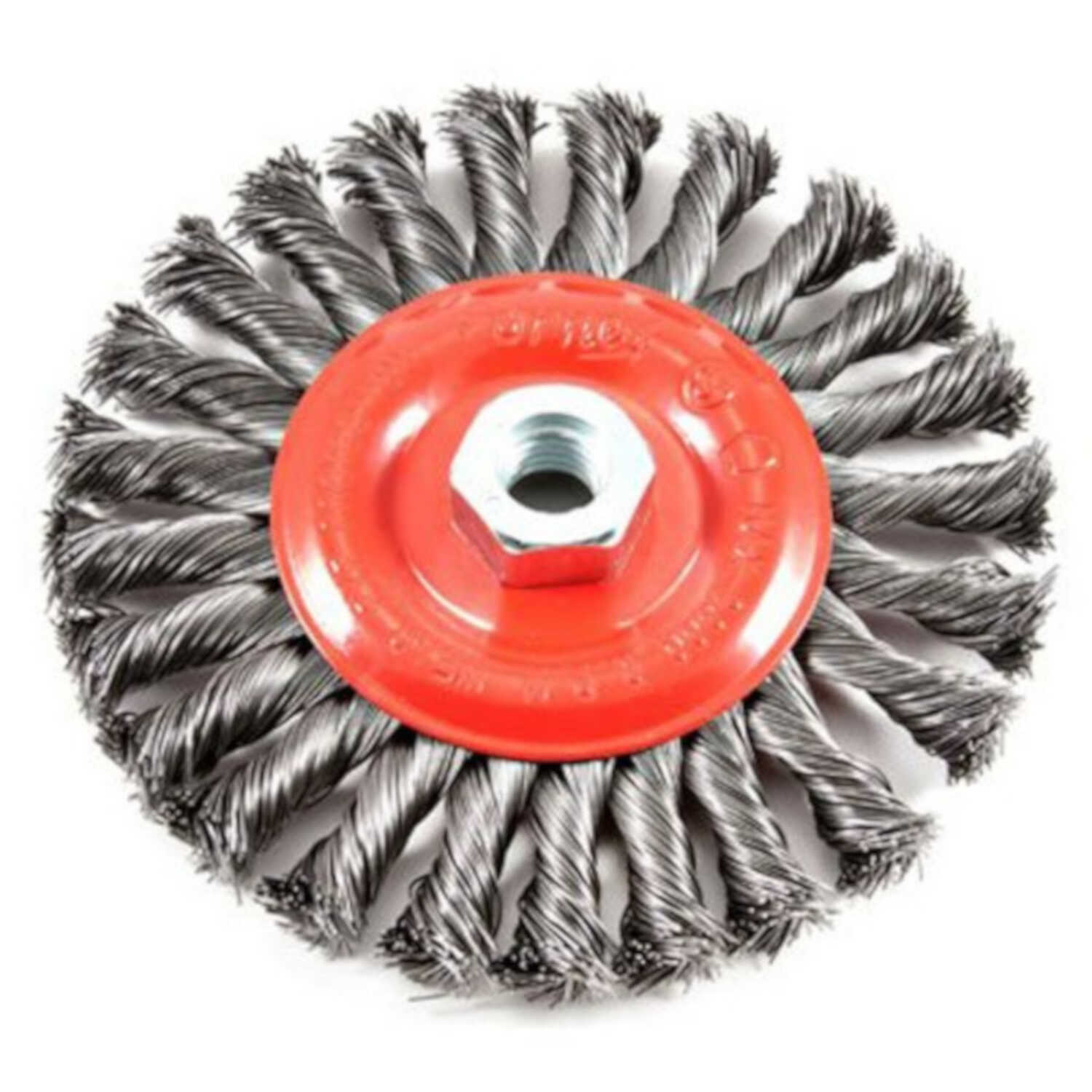 Forney  6 in. Crimped  Wire Wheel Brush  Metal  1 pc. 9000 rpm