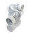 Ace  96 in. L x 4 in. Dia. Silver/White  Aluminum  Dryer Vent Kit