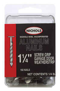 Nichols Wire  1-1/4 in. L Siding  Aluminum  Nail  Spiral Shank  Round  1/4 lb.
