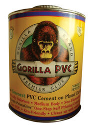 Gorilla PVC  PrimaGlue  Purple  Primer and Cement  For PVC 32 oz.