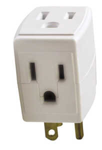 Ace  Grounded  3  Square 3-Outlet Adapter  1 pk Surge Protection