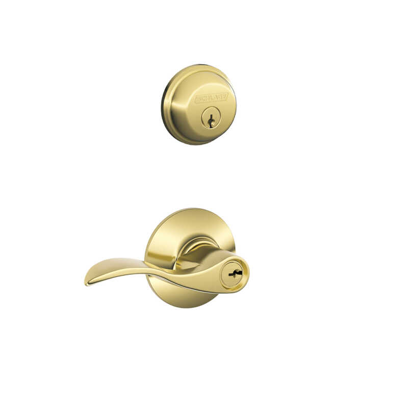 Schlage  Accent  Entry Lever  ANSI Grade 2  1-3/4 in.