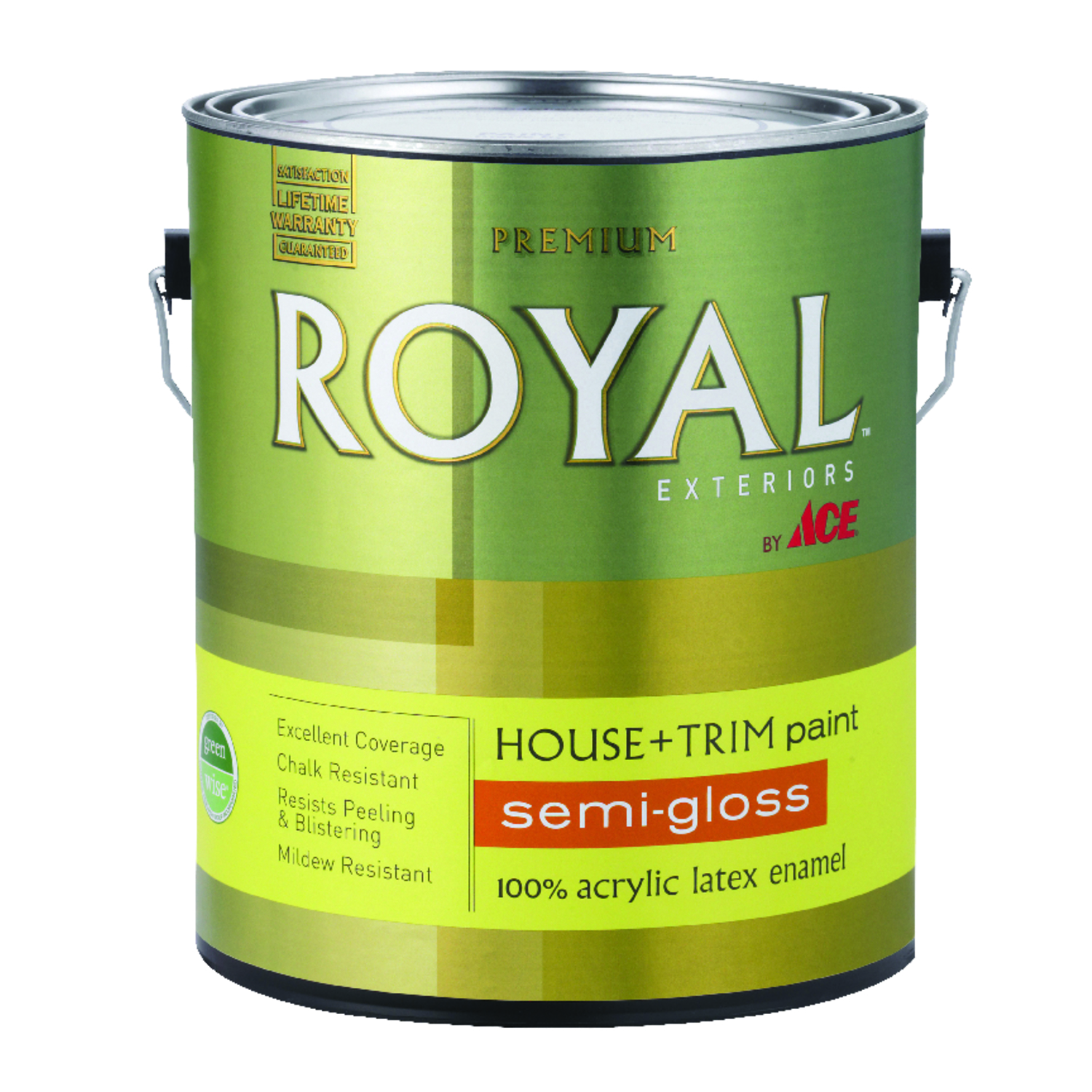 Ace  Royal  Semi-Gloss  White  Acrylic Latex  1 gal. House & Trim Paint & Primer