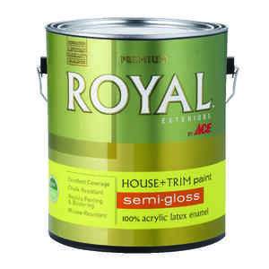 Ace  Royal  Semi-Gloss  White  Acrylic Latex  House & Trim Paint & Primer  1 gal.