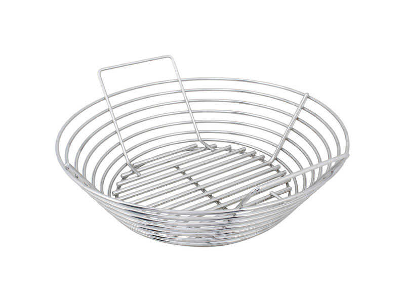 Kick Ash Basket  Stainless Steel  Charcoal Grate  5.75 in. H x 15 in. W x 15 in. L