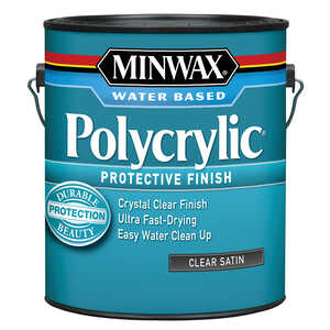 Minwax  Indoor  Satin  Satin  Polycrylic  1 gal. Clear