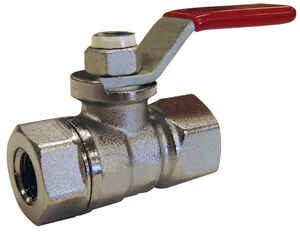 Mueller  Ball Valve  3/4 in. FPT   x 3/4 in. Dia. FPT  Brass  Packing Gland