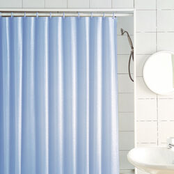 Excell  70 in. H x 72 in. W Light Blue  Glitter  Shower Curtain Liner  Vinyl