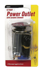 Custom Accessories 12 volt Black Auxiliary Power Outlet 1 pk Universal