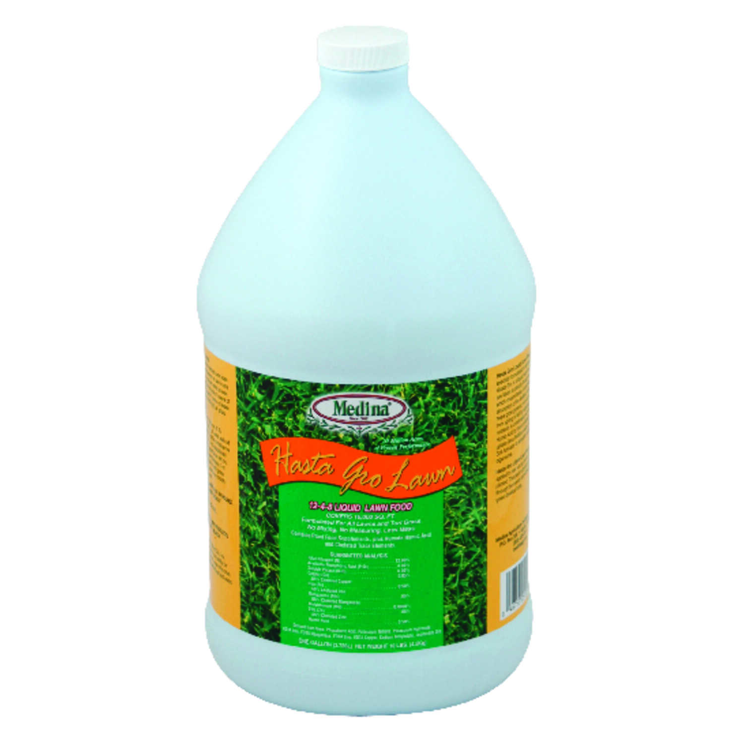 Medina Ag Products  Hasta Grow  12-4-8  Lawn Food  For All Grass Types 1 gal.