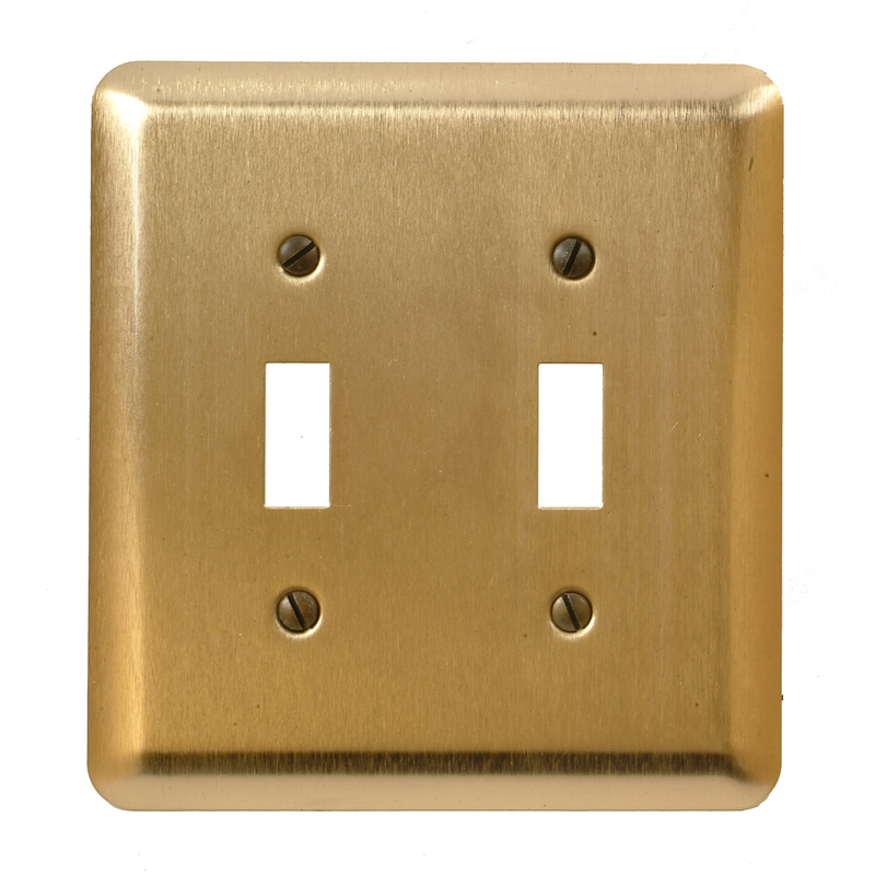Amerelle  2 gang Toggle  Wall Plate  1 pk Stamped Steel
