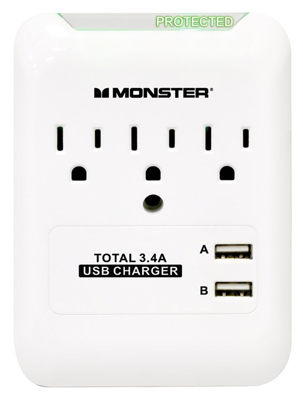 Monster Cable  540 J 3 outlets Surge Tap
