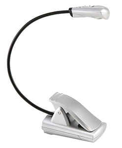 Fulcrum  7.25 in. Mini Clip-On Lamp  Silver