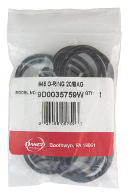 Danco  1-3/8 in. Dia. x 1-3/16 in. Dia. Rubber  O-Ring  20 pk