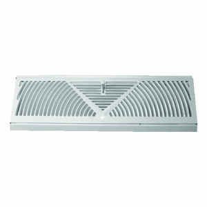 Tru Aire  4-3/5 in. H x 18 in. W 3-Way  Powder Coat  White  Steel  Baseboard Diffuser