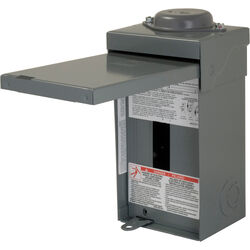 Square D HomeLine 70 amps 120/240 volt 2 space 4 circuits Wall Mount Main Lug Load Center