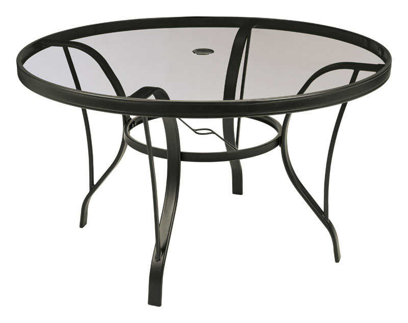 Living Accents  Newport  Round  Black  Dining Table