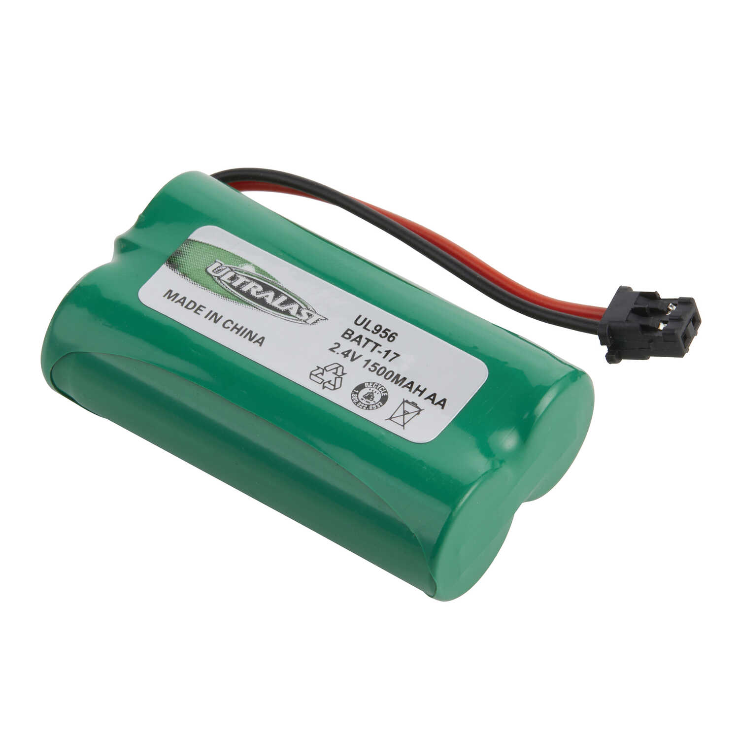 Ultralast  NiMH  AA  2.4 volt Cordless Phone Battery  BATT-17  1 pk