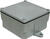 Cantex 4 in. Square PVC 1 gang Junction Box Gray